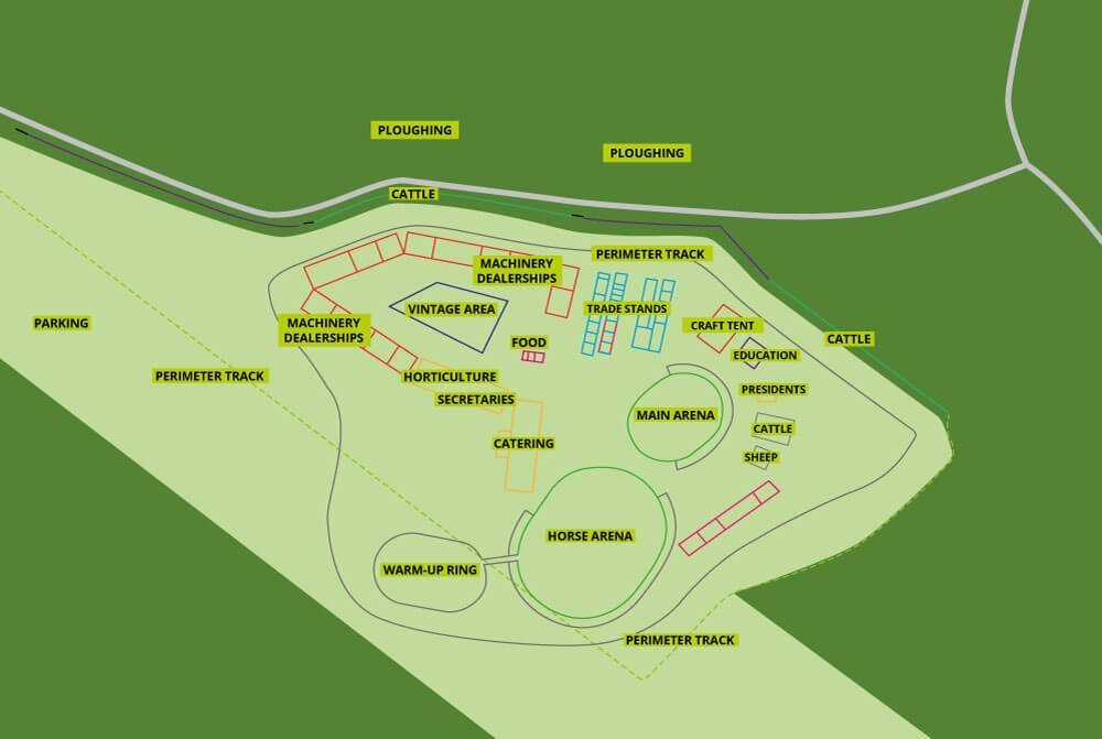 The Flintham Show Site Layout